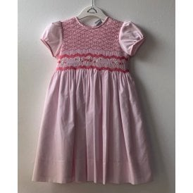 0bf6b1fba88 Girls Pale Pink Embroidered Dress