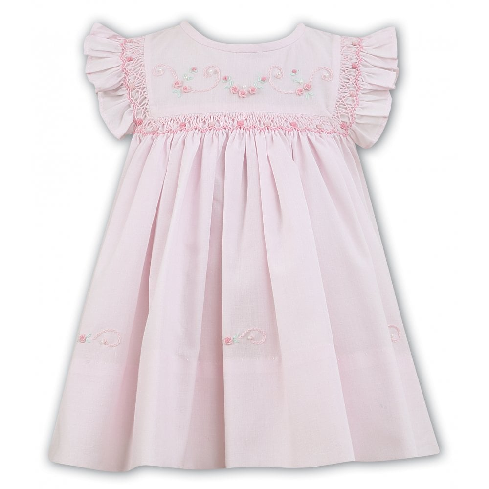 d84921fd243c Sarah-Louise-Girls-Pale-Pink-Hand-Smocked-Dress-011472