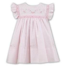 64a0e66683e3b Girls Pale Pink Hand Smocked Dress 011472 SALE. Sarah Louise ...