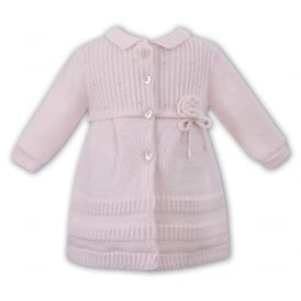 Girls Pale Pink Knitted Coat