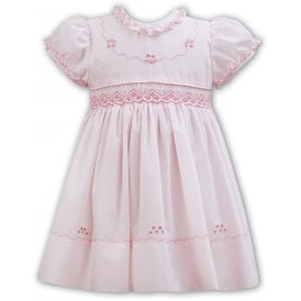 Girls Pink Smocked Dress 011163