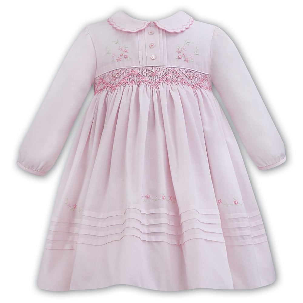 b25a01f7e4c5 Dani-Sarah-Louise-Girls-Pink-Smocked-Dress-011306