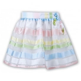Girls Rainbow Stripe Skirt