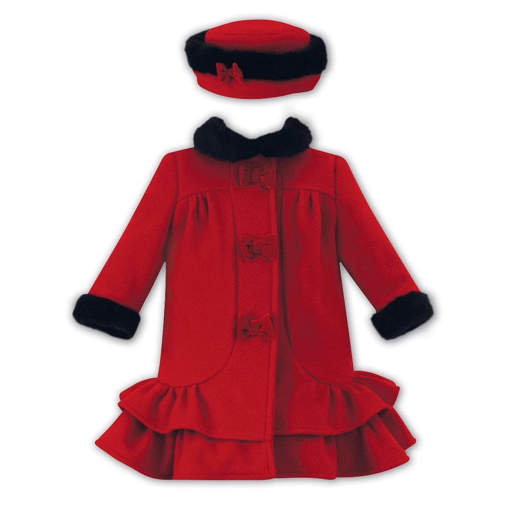 Sarah-Louise-Girls-Red-Coat-and-Hat-011032 c598d7a8c35