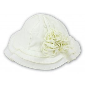 Girls Rose Bud Sunhat in Lemon