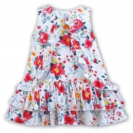 Girls Sleeveless Floral Dress 011216