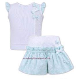 08c23e1efa66c Girls White and Mint Top and Skort Set NEW SEASON · Sarah Louise ...