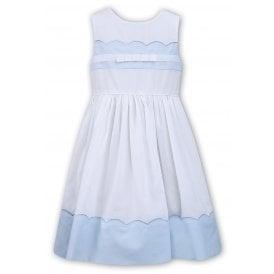 d32868b20f60f Girls White and Pale Blue Dress 011574 NEW SEASON · Sarah Louise   Dani ...