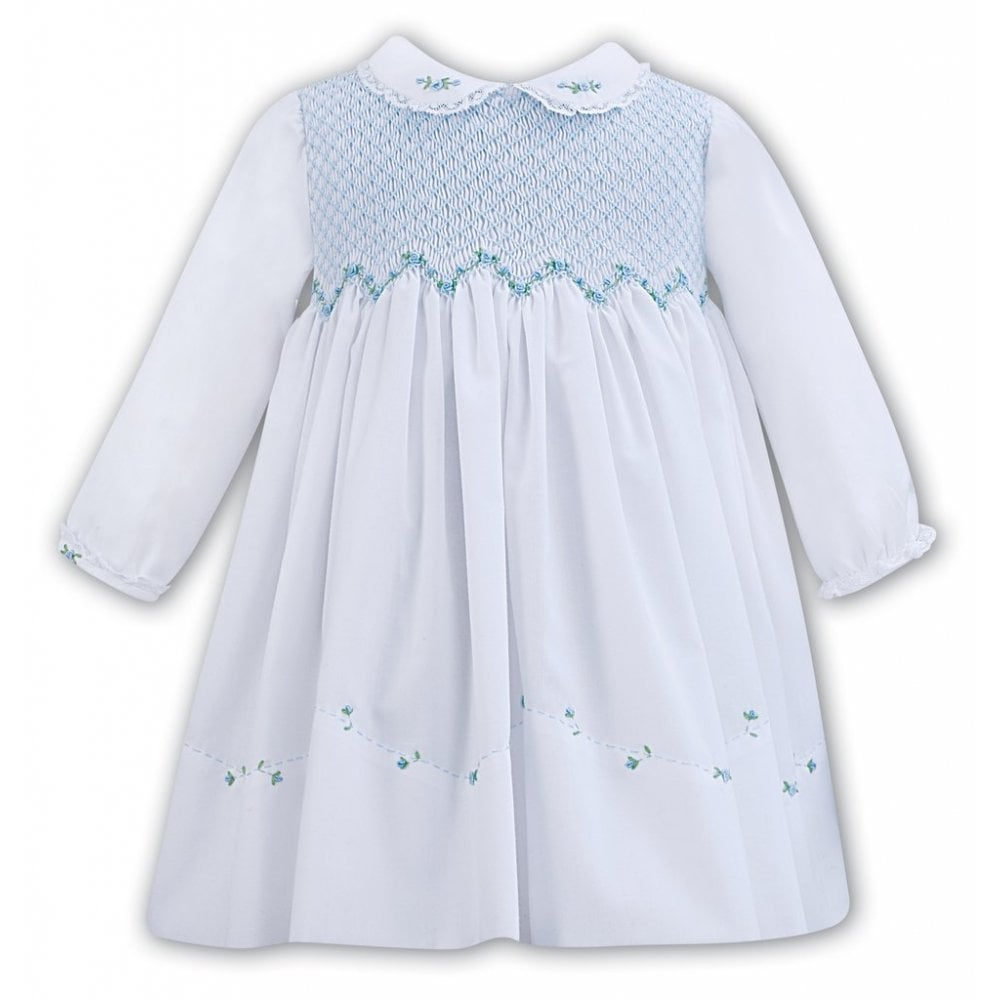 848bc0f36f6f1 Sarah-Louise-Girls-Smocked-Dress-011294-White-Blue