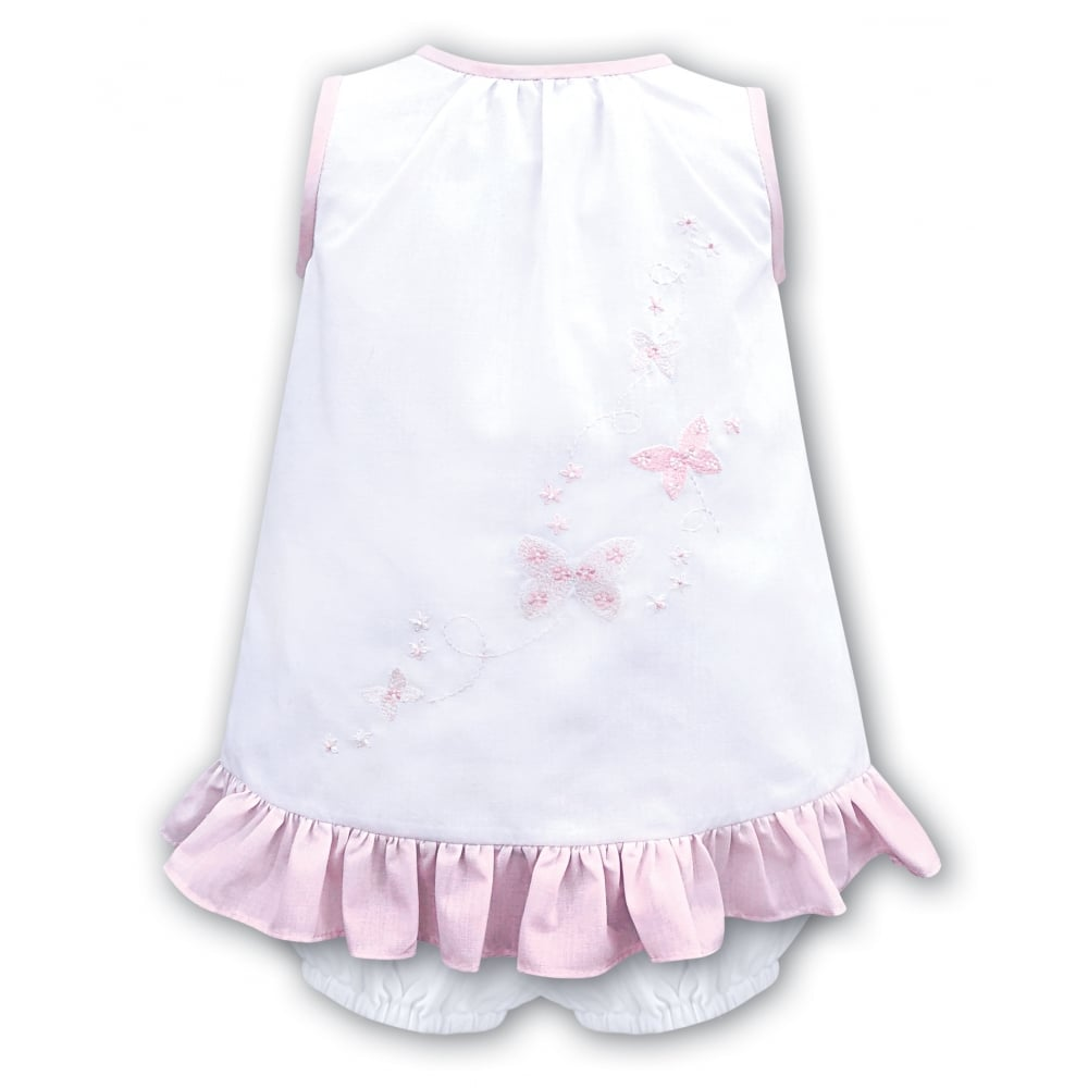 3b86bef1bb14 Girls White with Pink Embroidery Dress