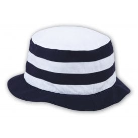 Navy and White Sun Hat