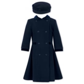 Sarah Louise Navy Coat & Hat Set