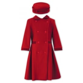 Sarah Louise Red Coat & Hat Set