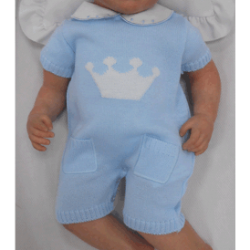 4d504a79f Baby Boy Knitted Shortie Romper
