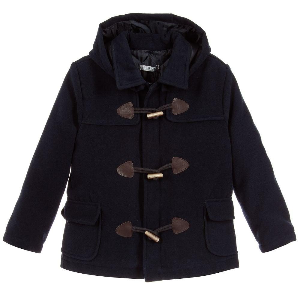 4879fee6cfcdd Sardon-Baby-Boys-Navy-Duffle-Coat