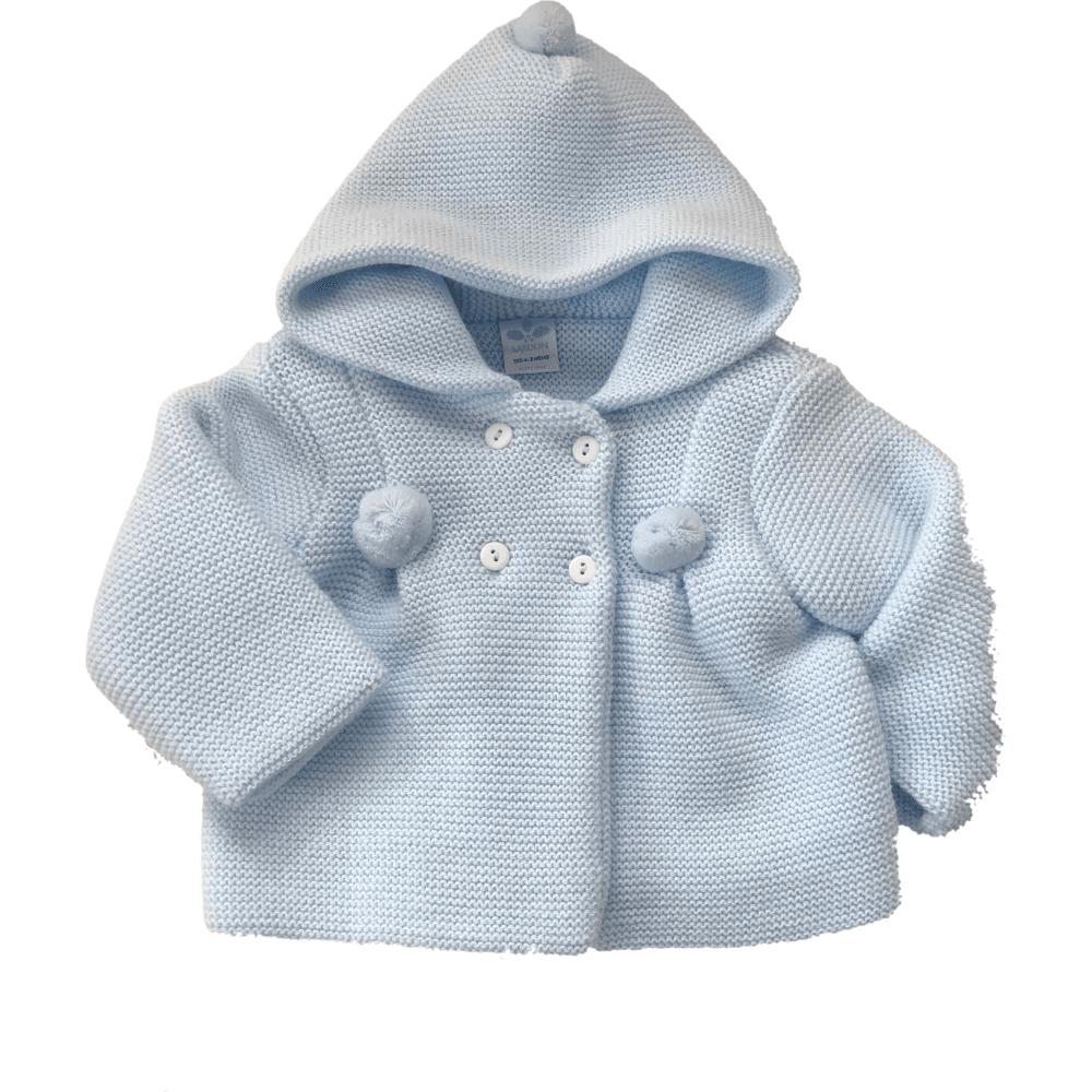 8993ca8189ed Sardon-Baby-Blue-Chunky-Knit-Hooded-Jacket