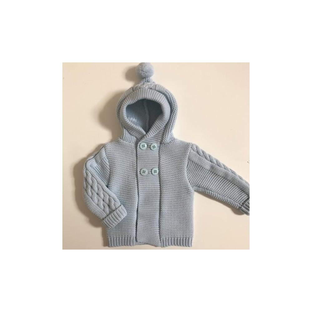 1a747f10a Sardon-Baby-Pale-Blue-Hooded-Cardigan