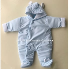 Baby Boy Pale Blue Pramsuit