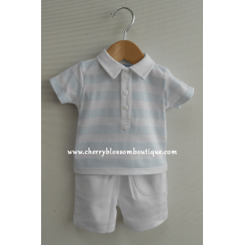 Baby Boy Stripe Polo and Short Set