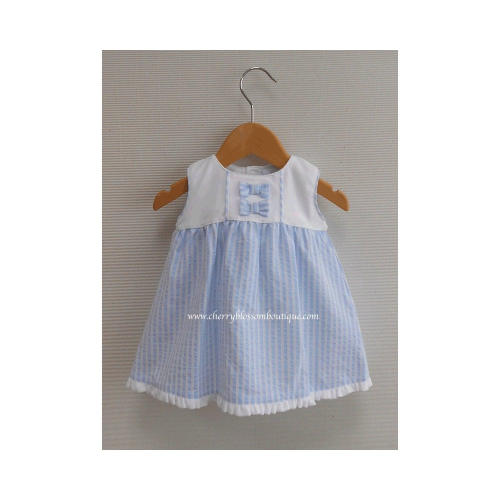 3ca4f31b5 SALE. Baby Girl Pale Blue Stripe Dress