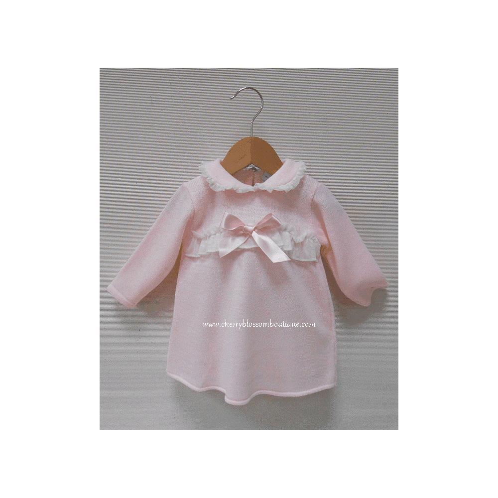 e97938c2f4d5b Sardon-Baby-Girl-Pink-Knitted-Dress