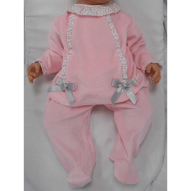 Baby Girl Pink Velour 2 Piece Set