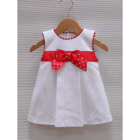 Baby Girl White Dress with Large Bow