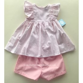 Girls Blouse and Short Set